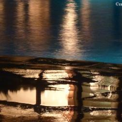 Poolside puddle