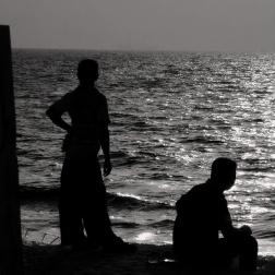 Sundown in silhouette