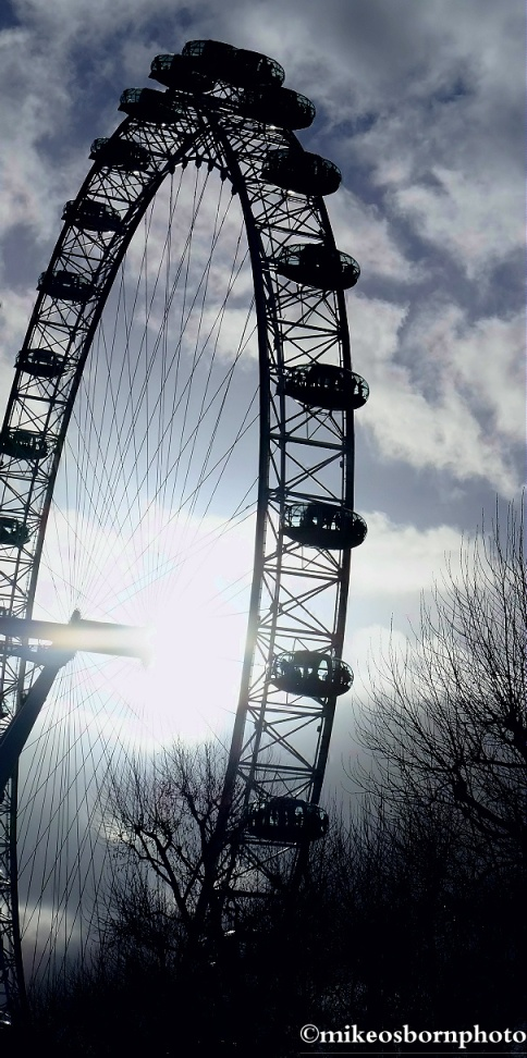 Wheel in silhouette
