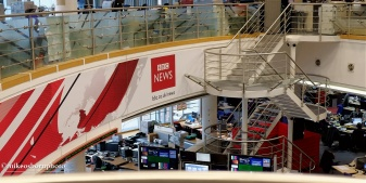 The newsroom has become very quiet as services move to New Broadcasting House in central London.