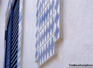 White blue detail