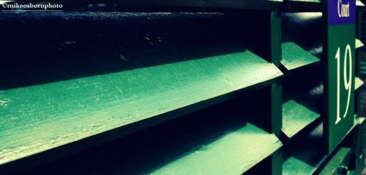 Dark green slats