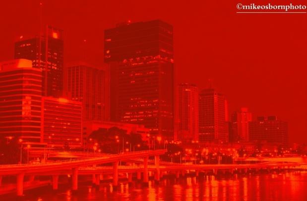 Red Brisbane dusk