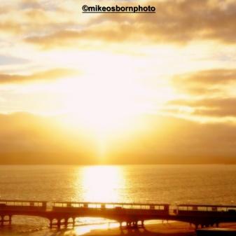 Sun-blessed pier