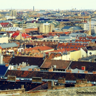 The rooftops from St Stephen's Basilica