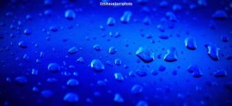 Moisture on blue