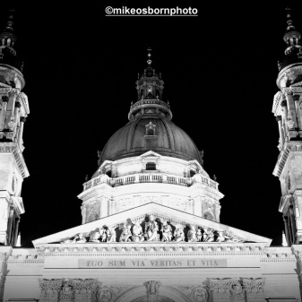 St Stephen's Basilica, imposing and glorious after dark