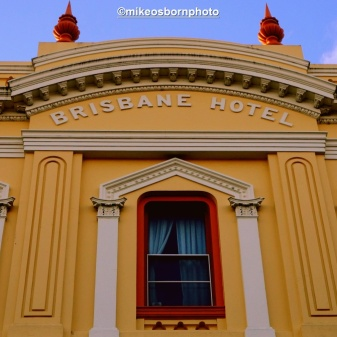 An old facade in central Launceston. The hotel was founded in the 1820s but ceased trading 50 years ago