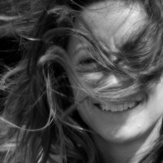 Louise from The Photography Boat happily posed for a windswept portrait