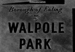 Walpole Park sign