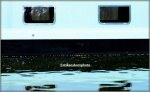 Light blue narrowboat