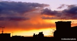A sunset from the house at Godolphin Road
