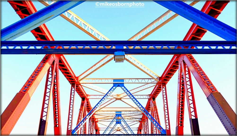 Bright iron bridge
