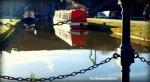 Resting narrowboats
