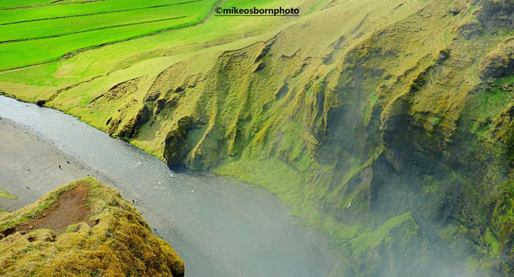 Green landscape in Iceland