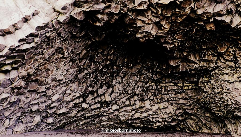Rock formations on Icelandic beach