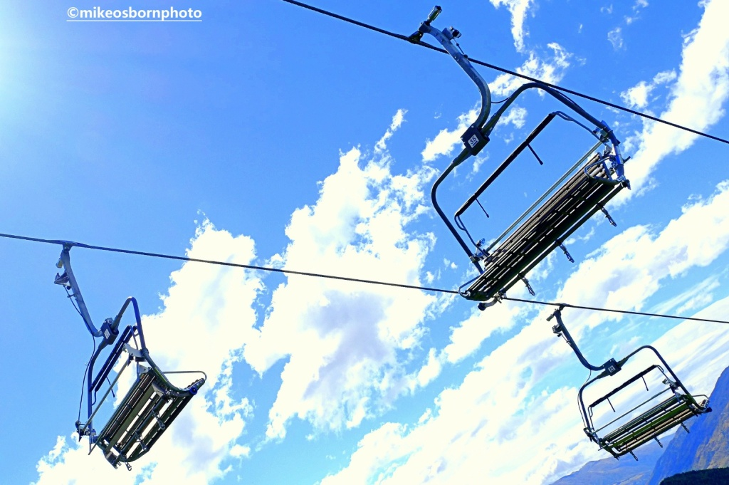 Chair lift above Queenstown, New Zealand