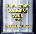 North Otago Womens Club sign, Oamaru, New Zealand