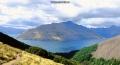 Hikers above Lake Wakatipu, New Zealand