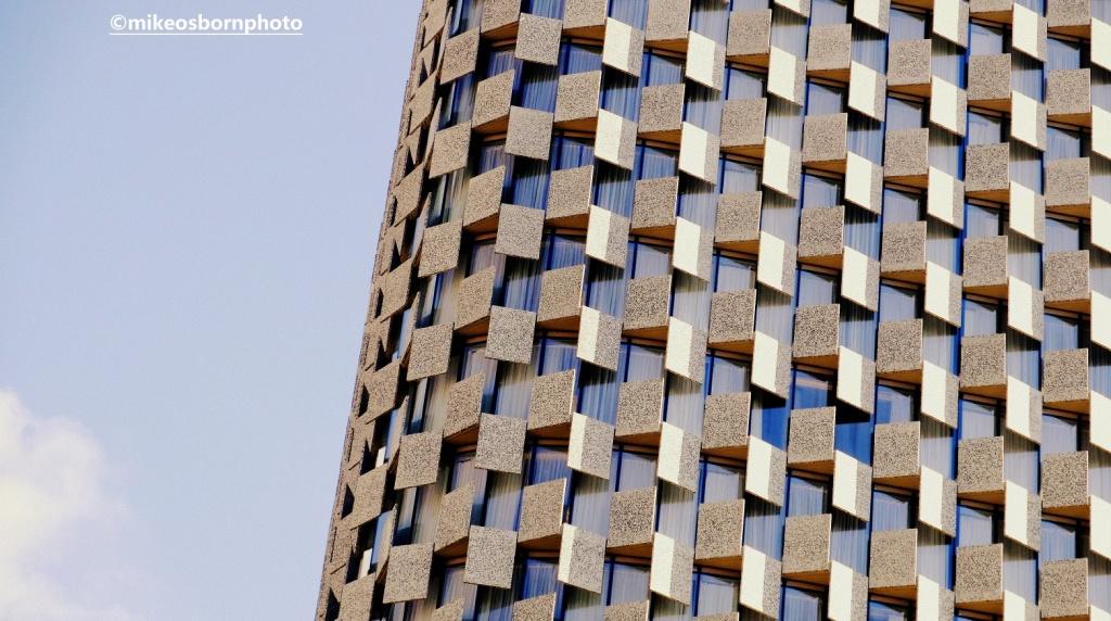 Modern skyscraper in Tirana, Albania