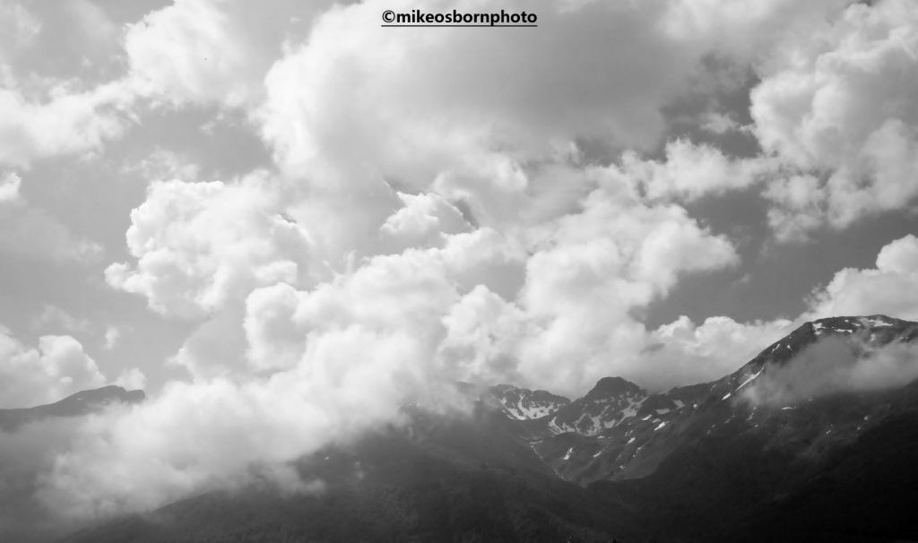 Dramatic weather over Albanian mountains