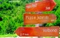 Signpost in Valbona mountains, Albania