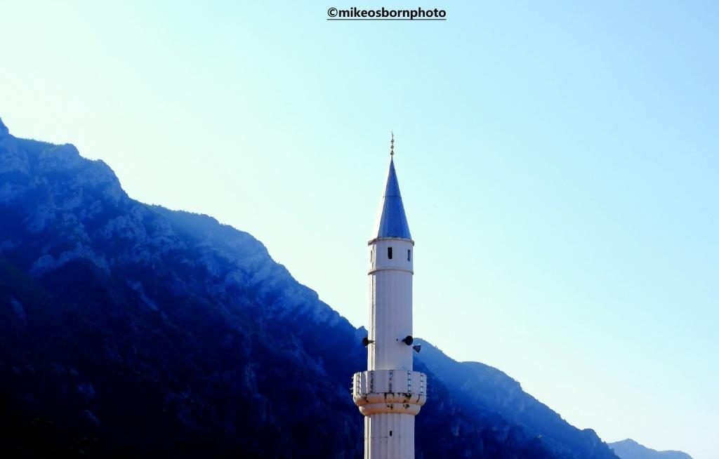 Early morning minaret in Kruje, Albania