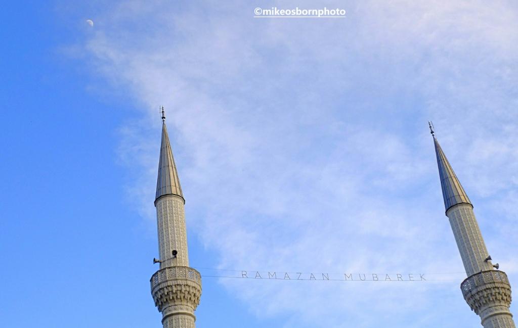 Twin minarets in Shkodër, Albania