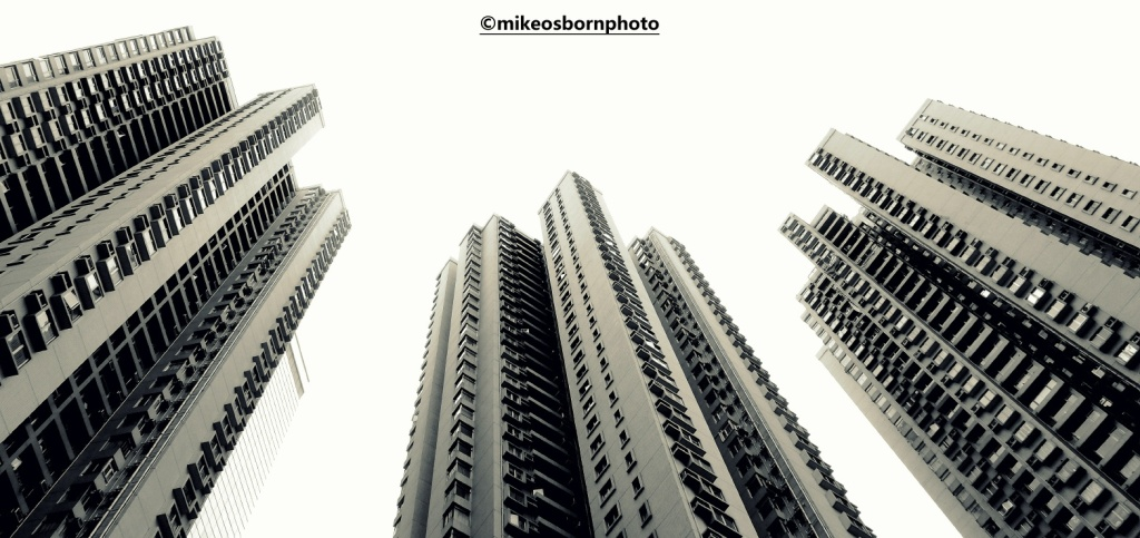 Three skyscrapers in Hong Kong