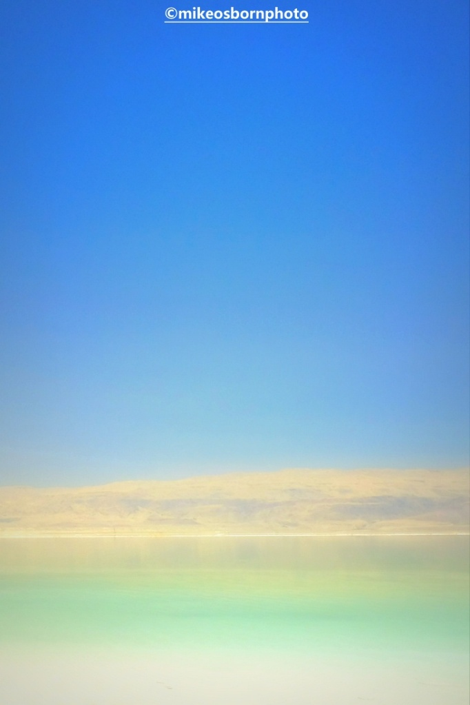 Hazy blue colours of Dead Sea