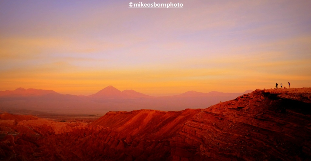 Sunset over Atacama Desert, Chile