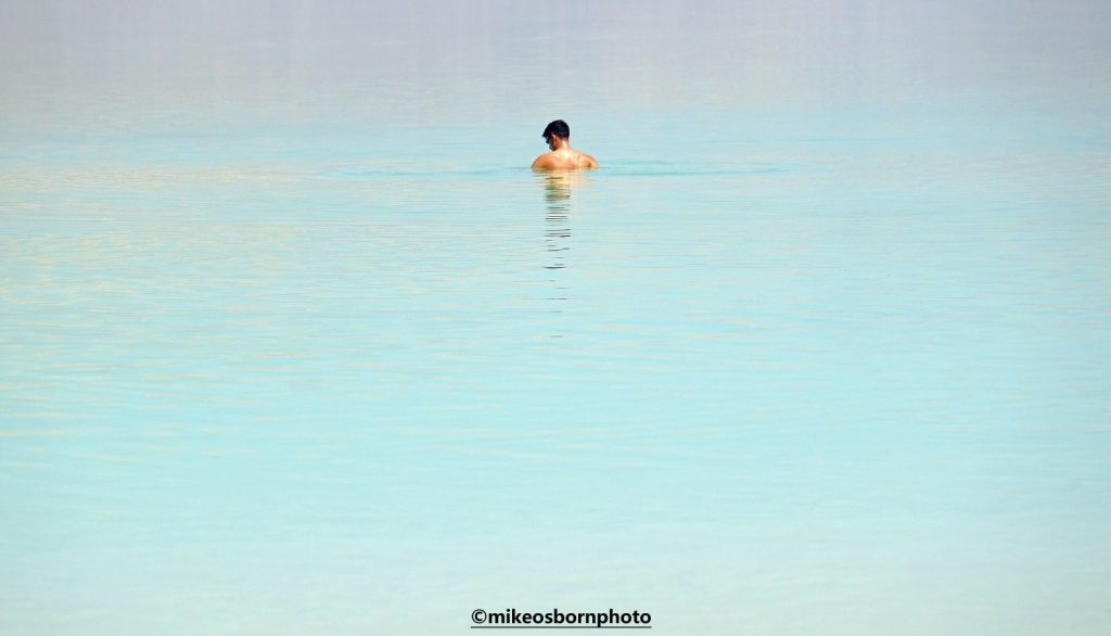 Man in Dead Sea