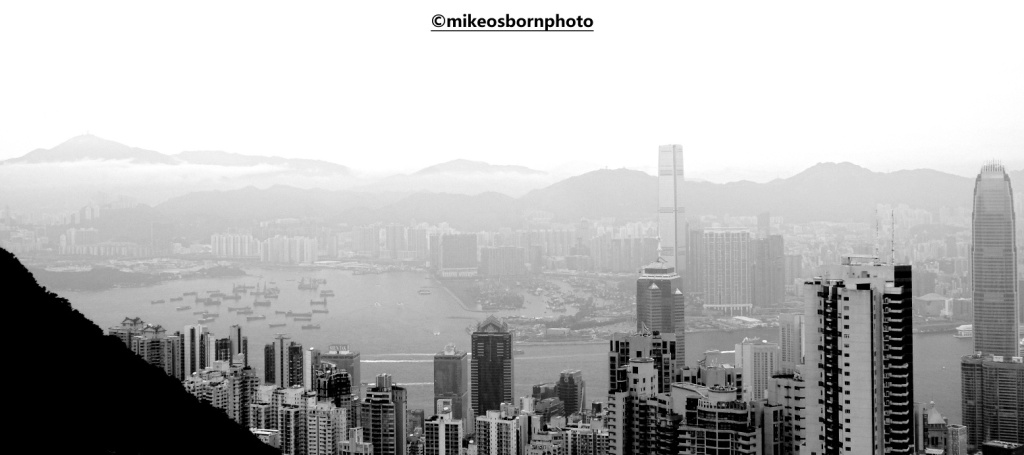 Misty views of Hong Kong from The Peak