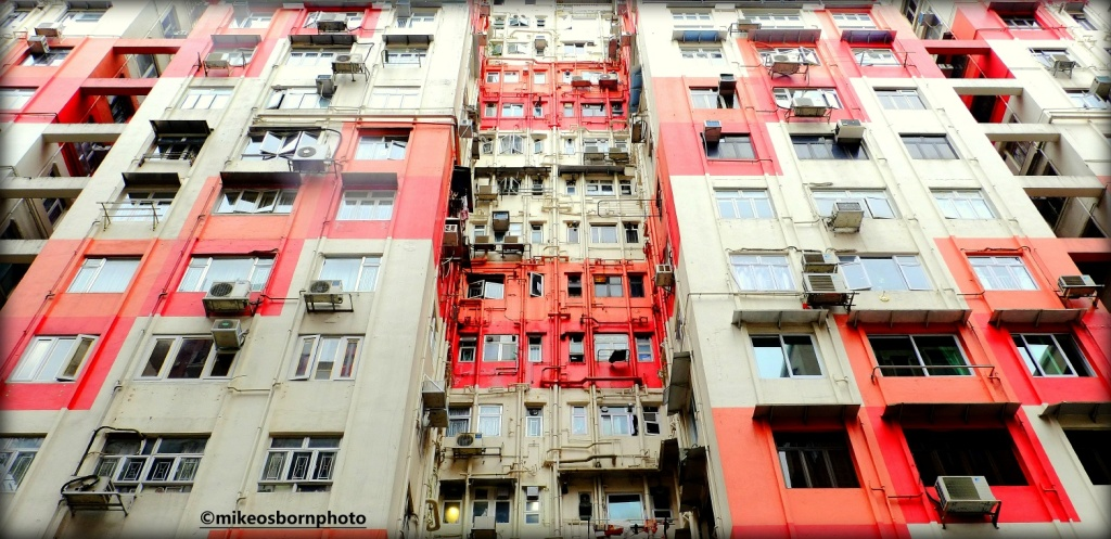 Chaotic high rise building in Hong Kong