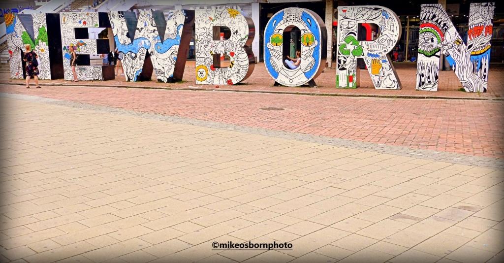Newborn sign in Pristina, Kosovo
