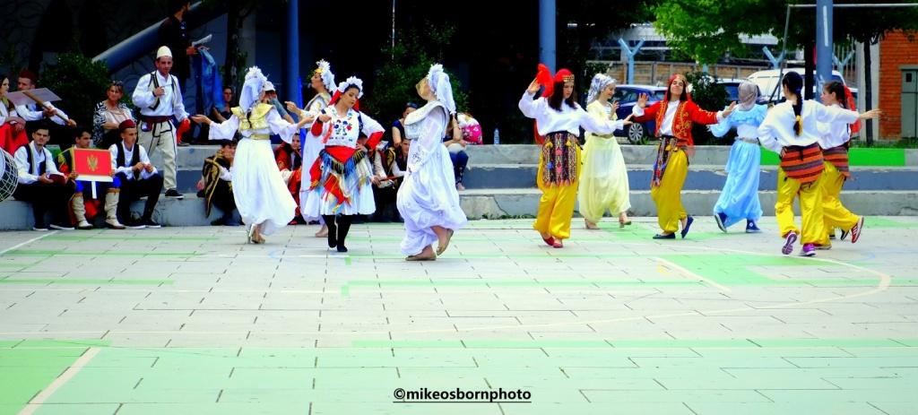 Folk dancers in Pristina, Kosovo