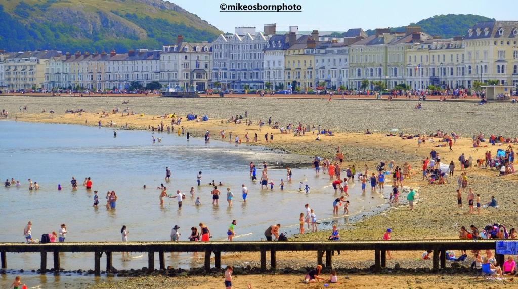 Seaside view of Llandudno, Wales