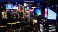 Nightime view of lights in Shibuya, Tokyo in Japan