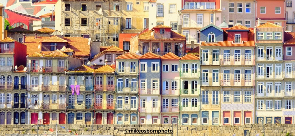 Colourful houses in Porto, Portugal