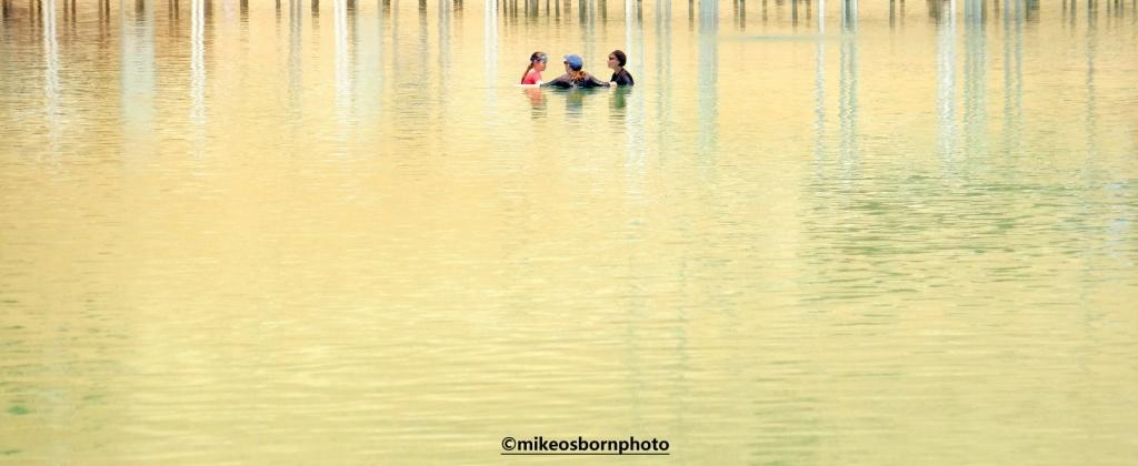 Bathers in Dead Sea, Ein Bokek, Israel