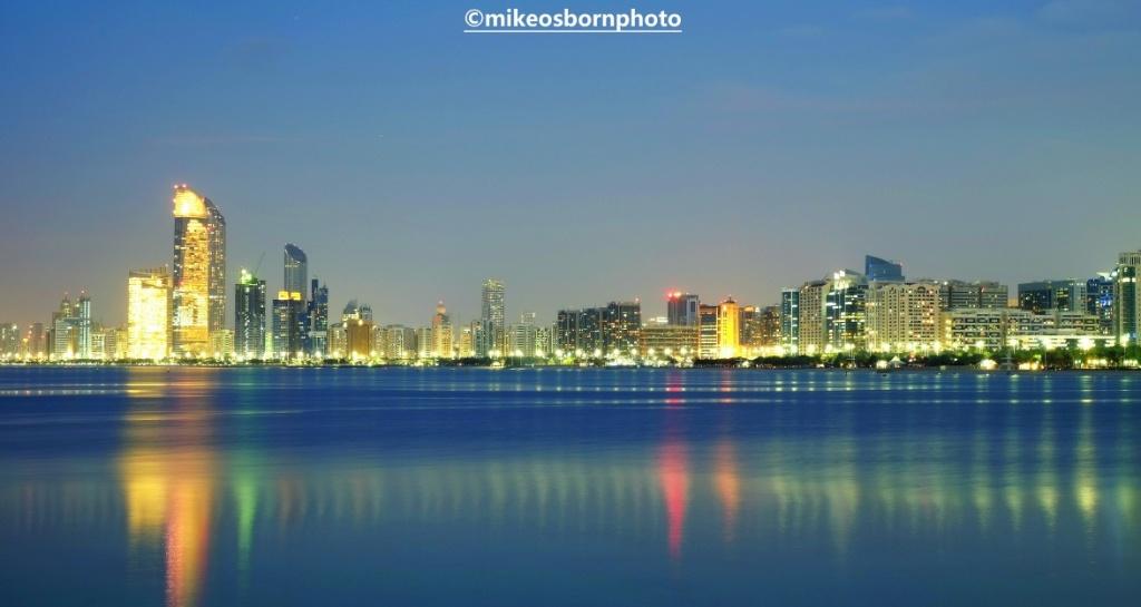 Night view of Doha, Qatar