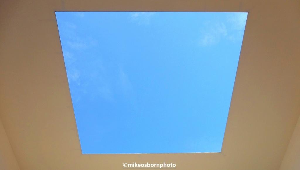 Sky gazing gallery at Kanazawa's contemporary art museum, Japan