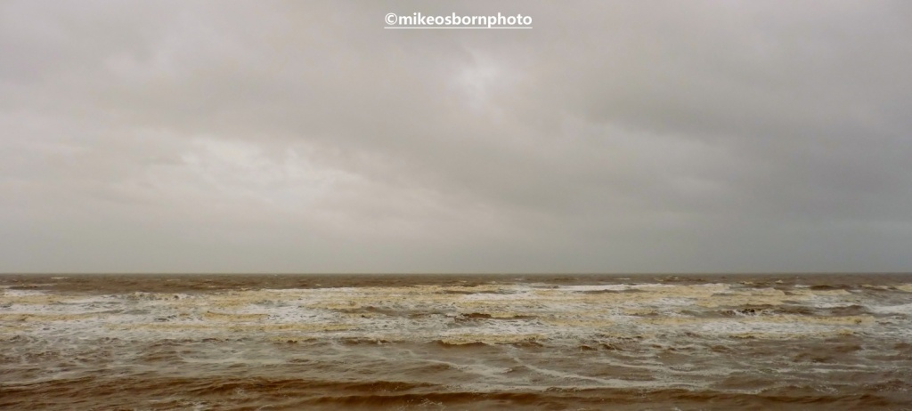 The sea at Blackpool in a winter storm