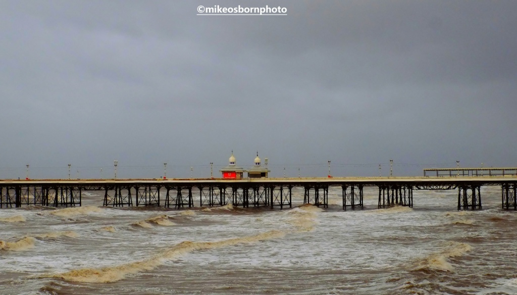 Blackpool's Central Pier on a stormy winter's day