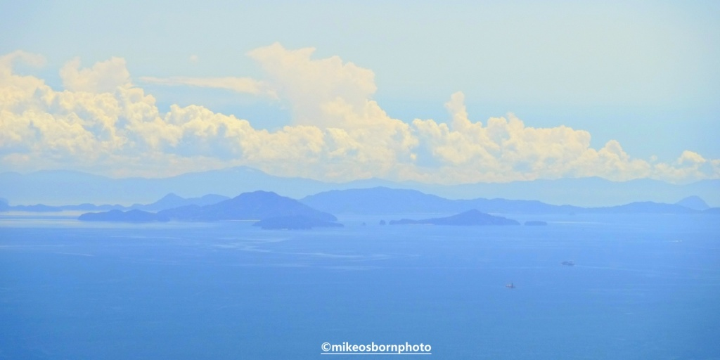 View of islands in Japan's inland sea