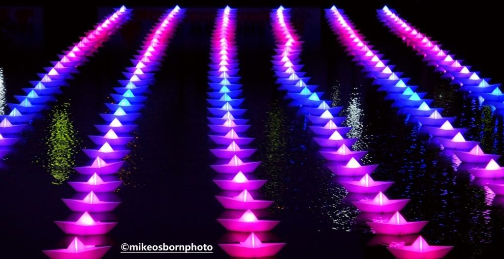 Magenta and blue lights