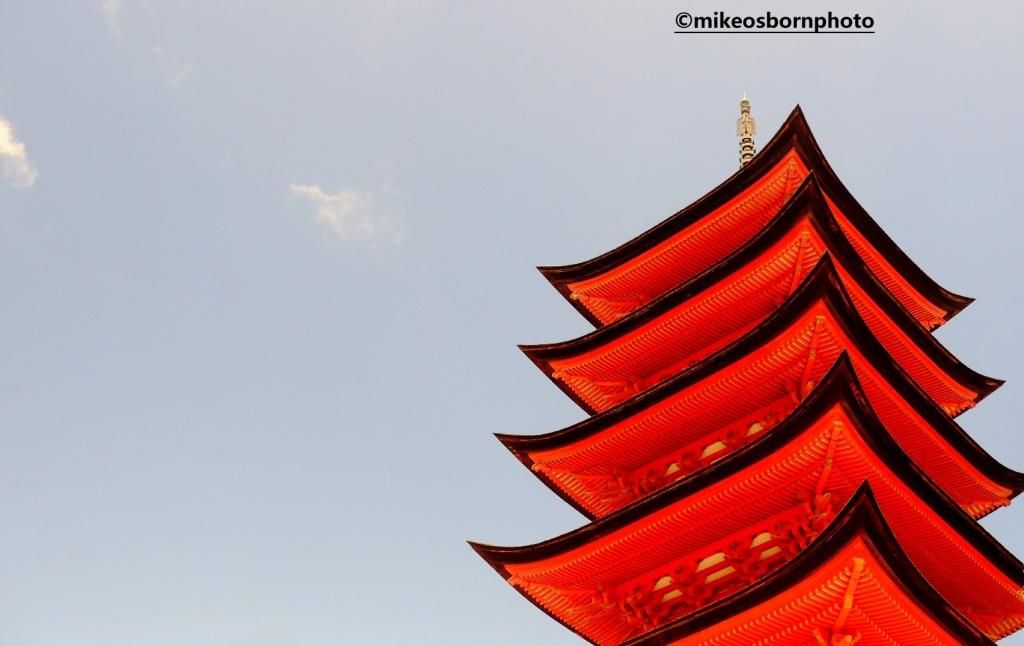 Red pagoda, Miyajima, Japan