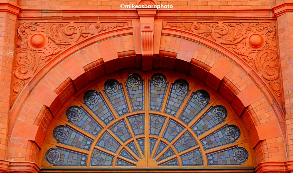 Red brick exterior of Blackpool Tower building
