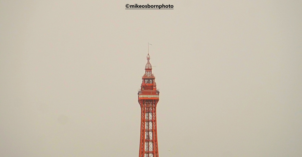 Blackpool Tower on a grey wintry day