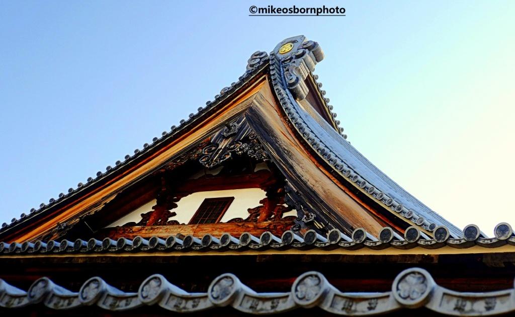 Buddhist temple roof, Nagano, Japan